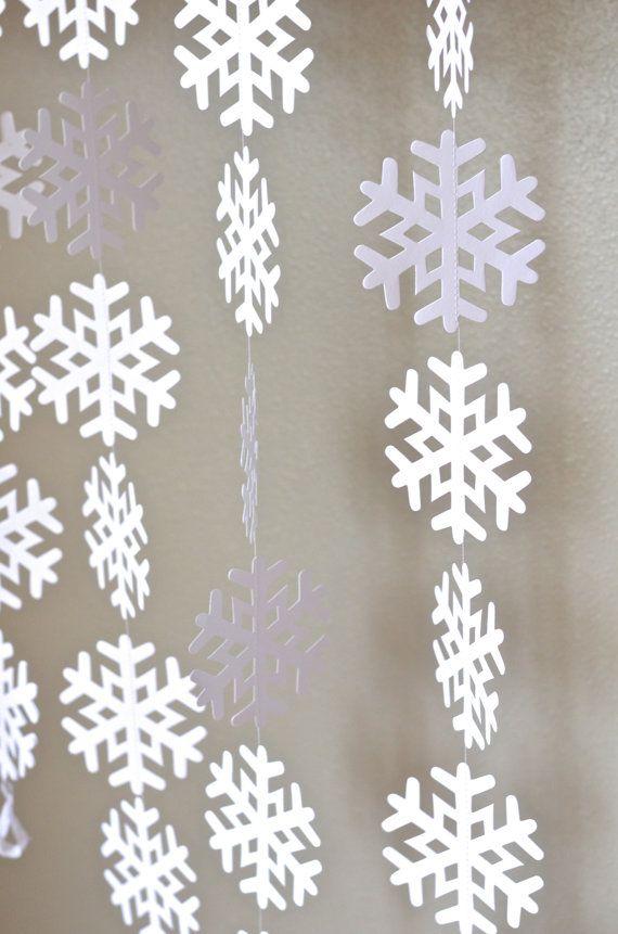 Frozen Snowflake Garland Large Frozen Snowflake Banner