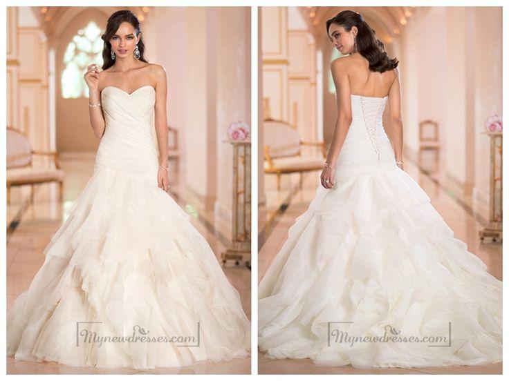 78+ Ideas About Pleated Wedding Dresses On Pinterest