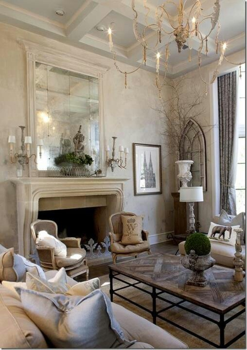 Rustic Chic Living Room For The Home Pinterest