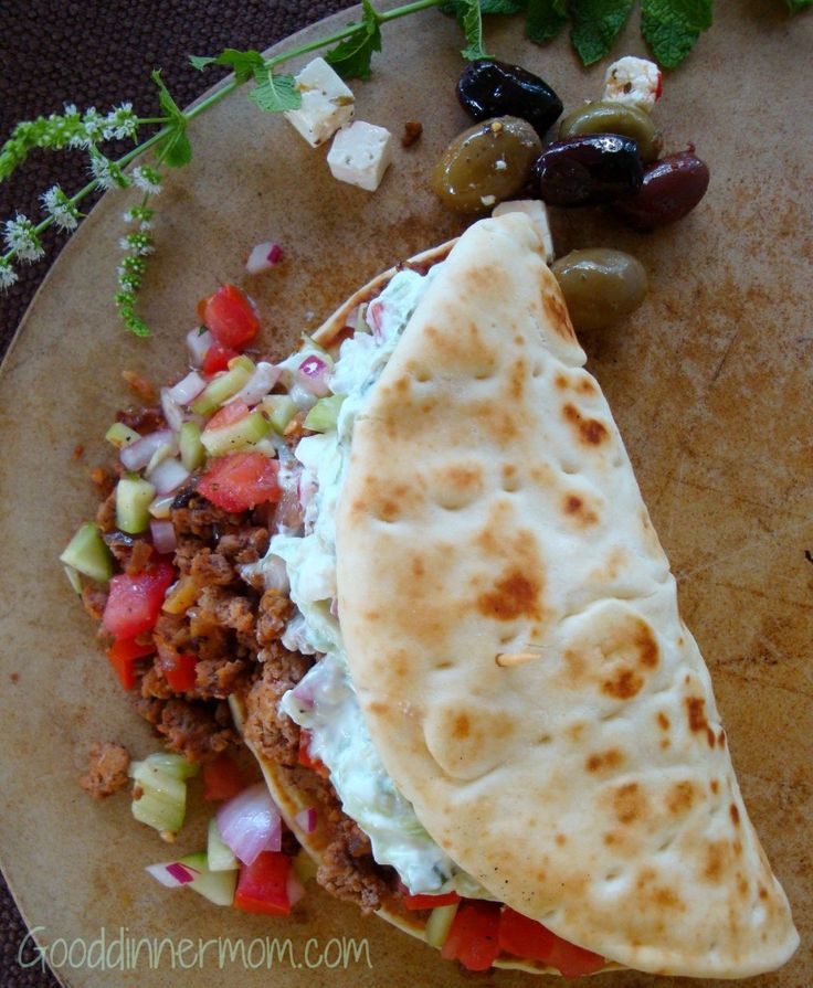 Big Fat Greek Tacos will please every appetite, ground meat seasoned perfectly and served with tomato and cucumber relish with