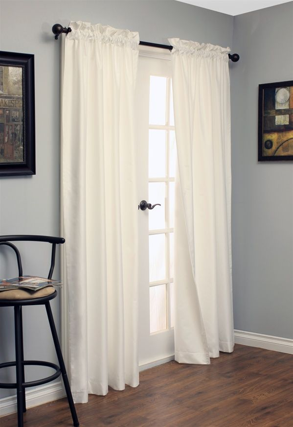 Farmhouse Chalkboard Grey Walls Curtain Rods And Grey