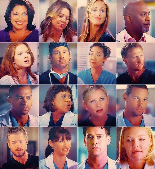 Callie, Meredith, Teddy, Richard, April, Derek, Christina ...