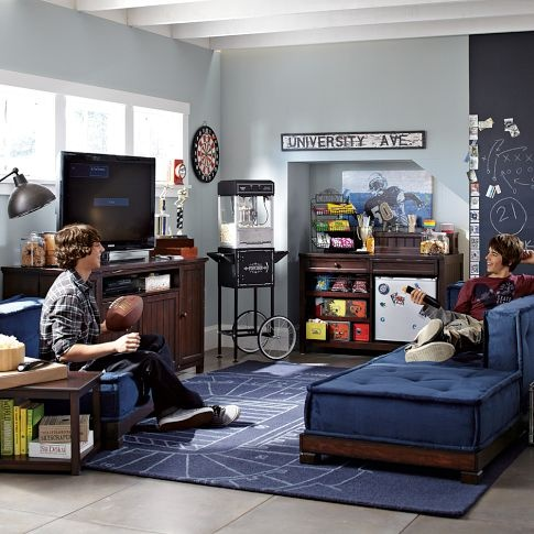 Cushy Lounge Sectional Set Base Pbteen Basement