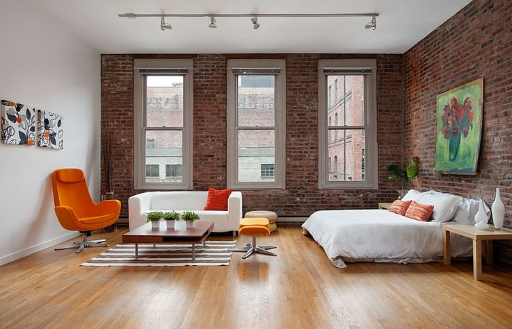 make a normal room look like a loft with our faux brick on best color for studio walls id=85113