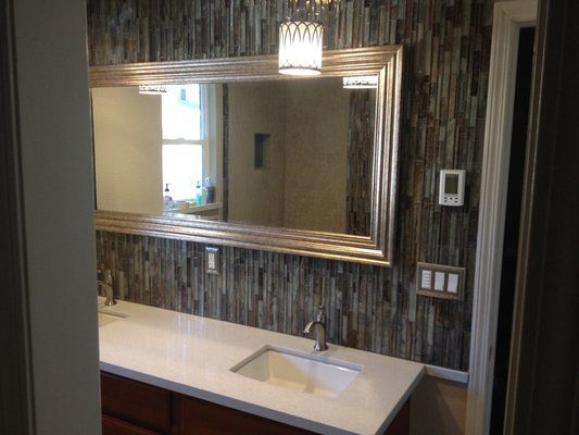 Full Length Mirror With Tile Surround