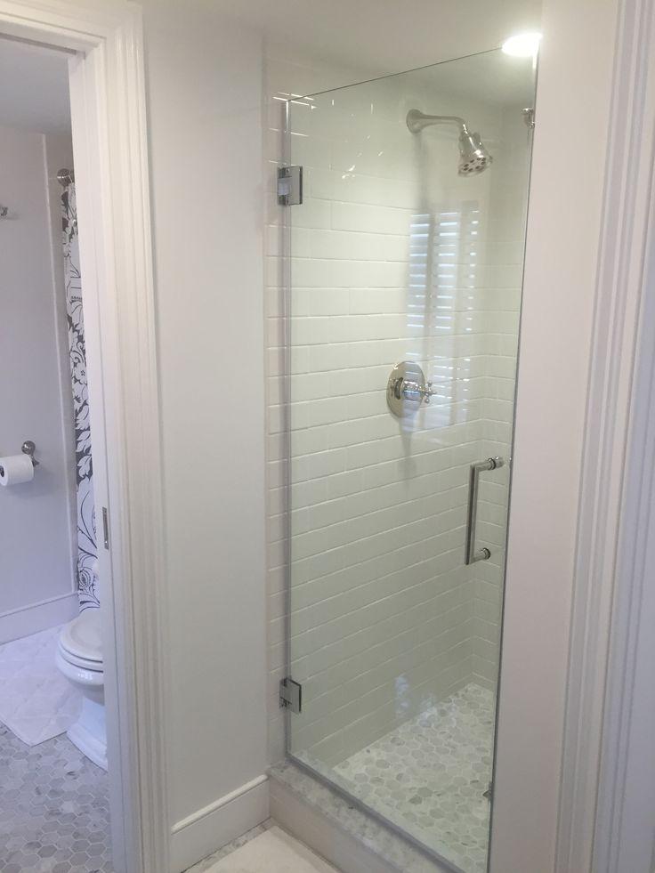 Gray And White Bathroom Marble Carrera Hexagon Tile Floor