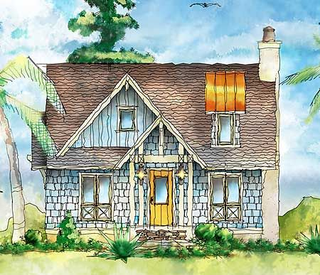 Plan 26683GG Shingle Style Itty Bitty Cottage Home Design Theater And Cottages