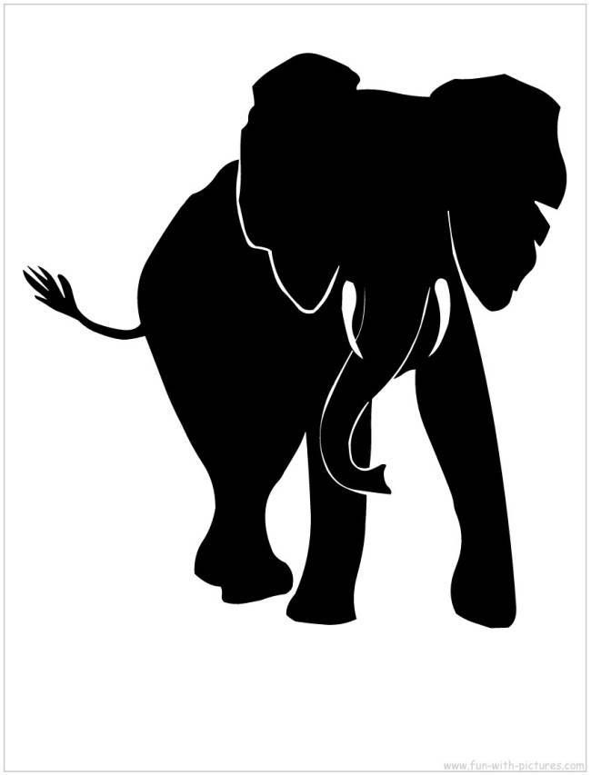 Download African Elephant Silhouette | wildlife | Pinterest ...