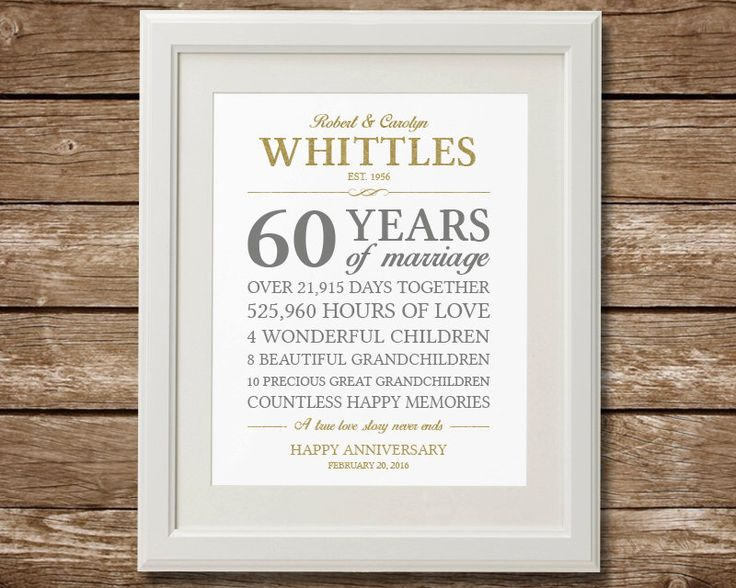 Best 20+ 60th Anniversary Gifts Ideas On Pinterest