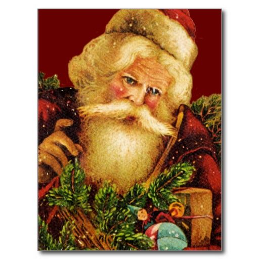Victorian Santa Claus With Gifts Post Card Zazzlers