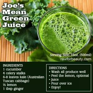 Green juice inspired by