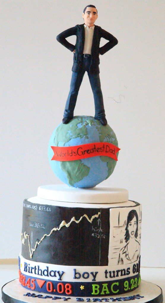 Custom Cake For A Stock Market Fan By Sweet Heaven Cake