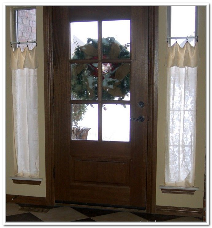 Small Curtain Rods For Sidelights Windows Pinterest