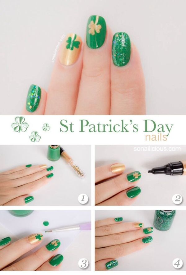 How-to for St Patricks Day Nails | Pedicures | Pinterest ...