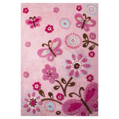 girls butterfly rug | roselawnlutheran