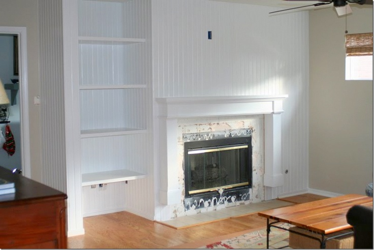 Beadboard Fireplace Wall Fireplaces Pinterest The