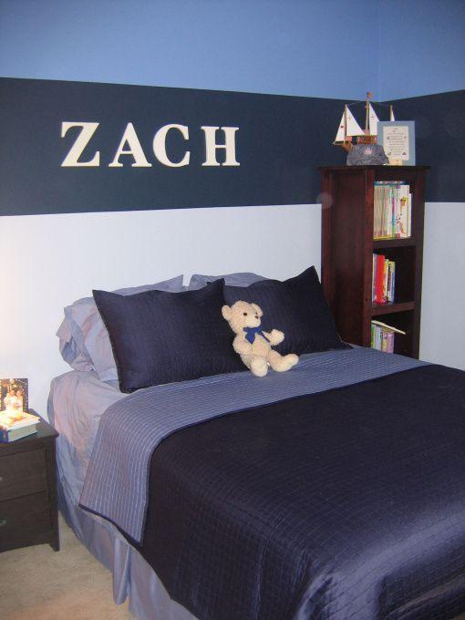 Bedroom Decor With Stripes For Pre Teen Boys Blue Boy S