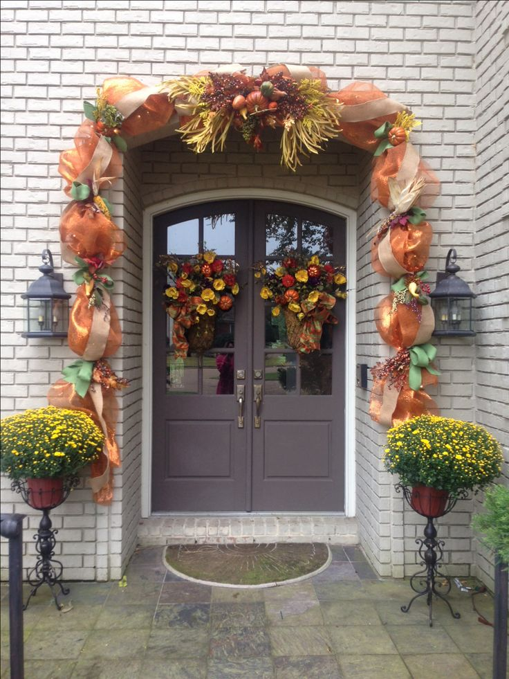 25 Best Ideas About Fall Mesh Garland On Pinterest Mesh