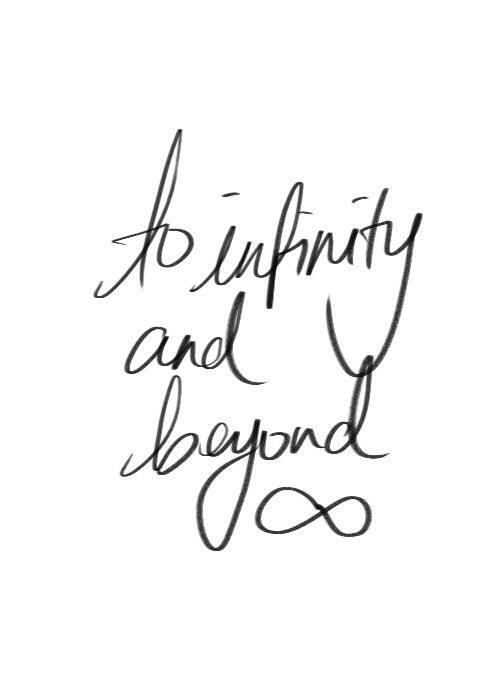 infinity ❥ I say I love you to infinity and beyond to my kids every night: