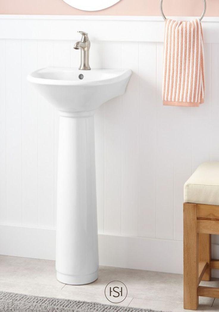 Farnham Porcelain Mini Pedestal Sink Pedestal Half