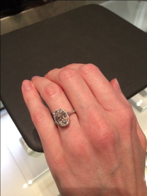 Monster Oval 3 Carat With Single Halo From Tiffany It