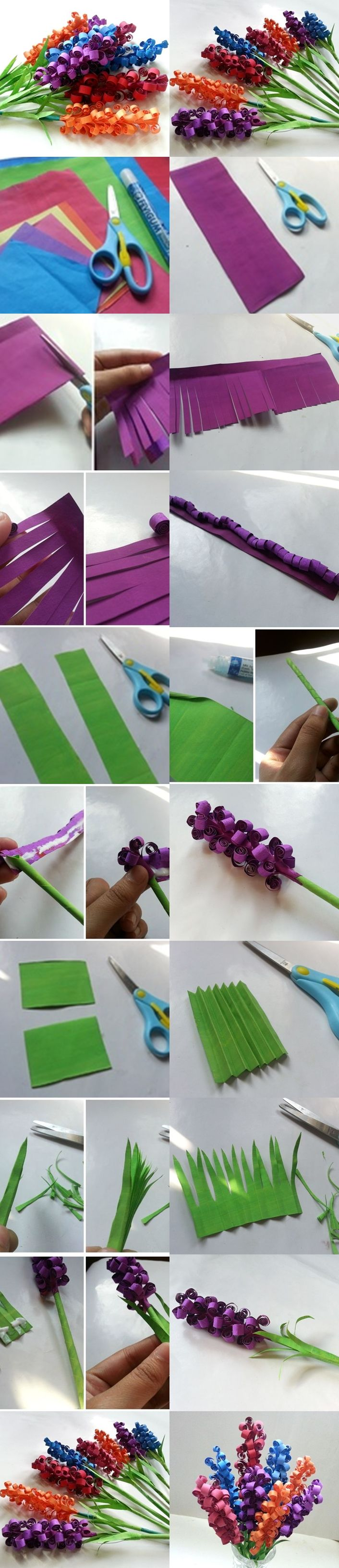 DIY Swirly Paper Flowers look really cute. My first thought was to try rolling t