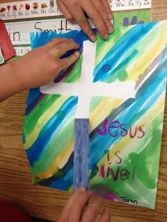 Apples and ABCs: Easter Cross