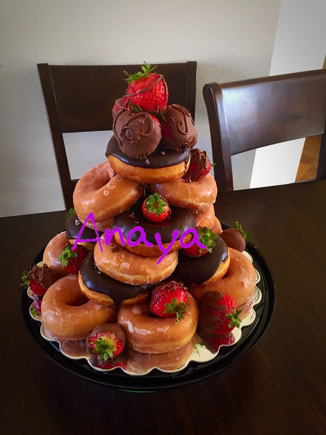 Donut Cake Tower By Ana Cakes Pinterest Cake Tower