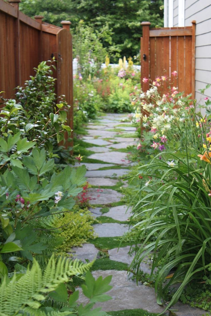 17 Best images about Walkway Ideas on Pinterest | Stone ... on Side Yard Walkway Ideas  id=81496