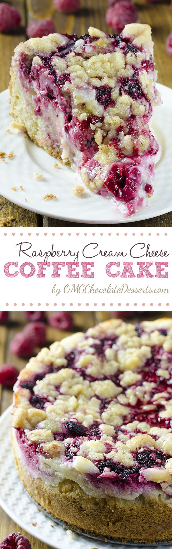 Raspberry Cream Cheese Coffee Cake – all flavors you love, you'll get here in every bite: moist and bu