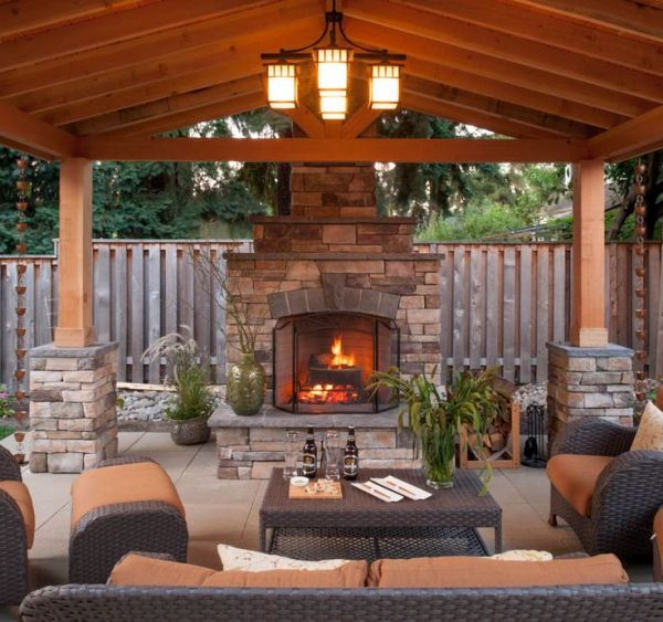 outdoor covered patio with fireplace 17+ best ideas about Outdoor Covered Patios on Pinterest