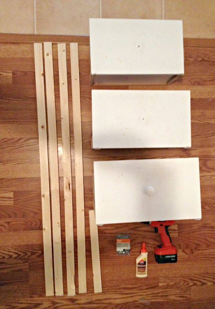 DIY Ladder Shelf From Old Repurposed Drawers Shelves