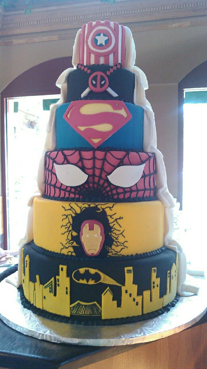 17 Best Images About Super Hero Cakes On Pinterest Joker