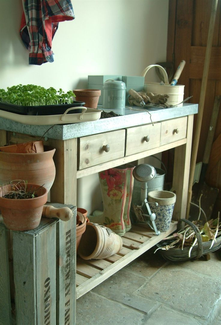 110 best 1000 potting benches images on pinterest on zink outdoor kitchen id=61988
