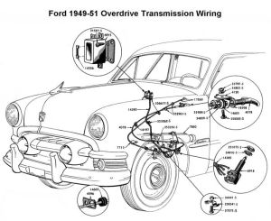 Wiring diagram for 194951 Ford OD | Wiring | Pinterest | Ford