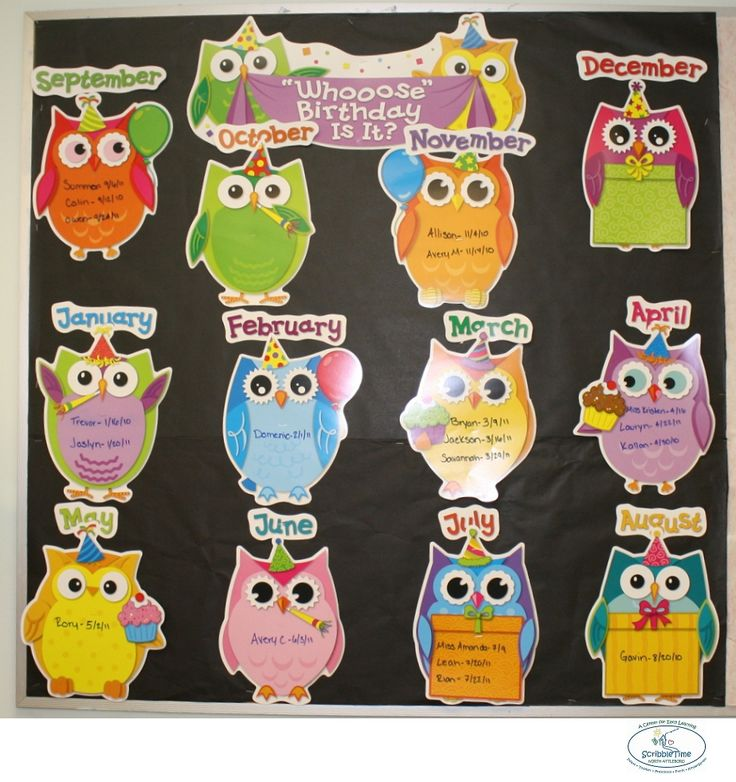 Preschool 1s Owl Birthday Board Amazing Bulletin