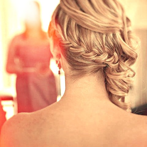 side french braid with curls updo love for bridemaid hair the perfect hair pinterest