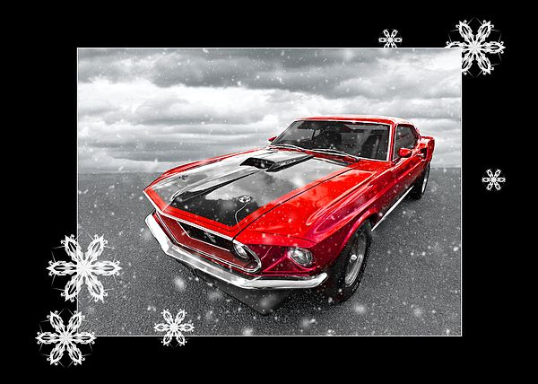 American Muscle Cars Christmas Greeting Cards And
