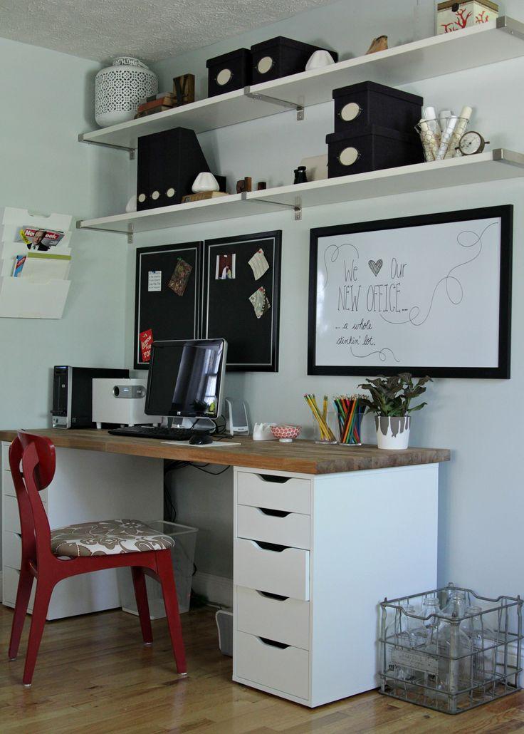 Ikea Office Makeover: Numerar counter tops and Vika Alex ...