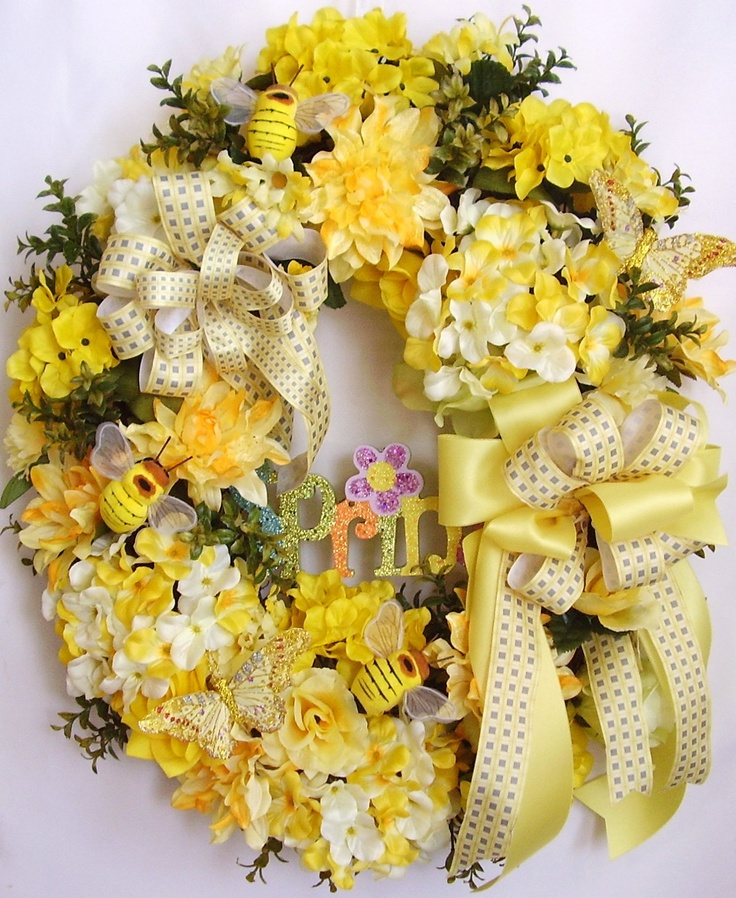 Spring+Wreath+Easter+Wreath+Mothers+Day+Wreath++by+WreathbyHH,+$84.95