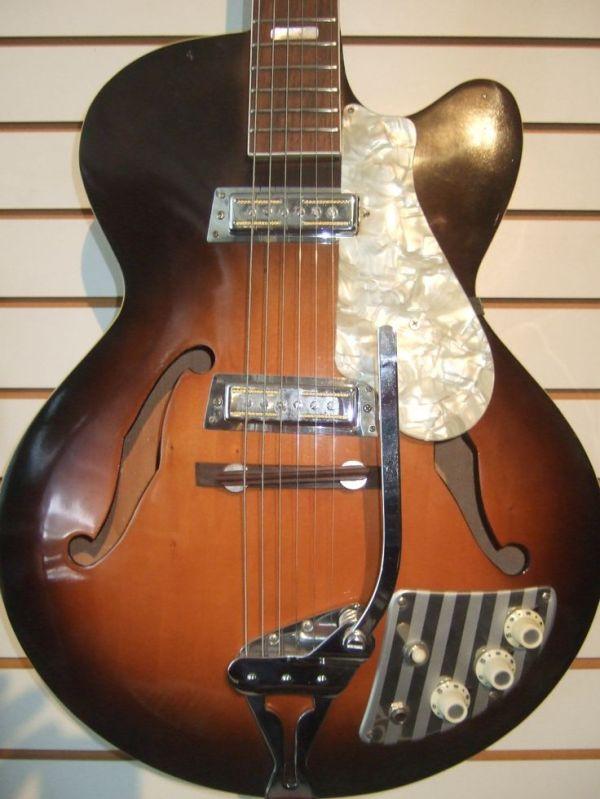 1960's Vintage Decca Teisco Hollow Body Electric Guitar ...