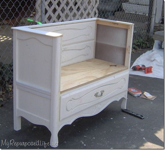Repurpose Dresser Without Drawers Cut Out The Top 2