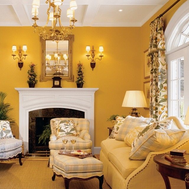 Color Yellow Room Living Gold Paint