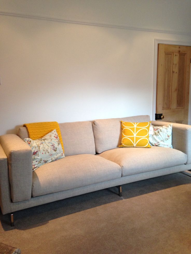 Cushions Orla Kiely Sunflower Amp Cole Amp Son Floral And Bird Fabric Made By Hand Sofa Ikea