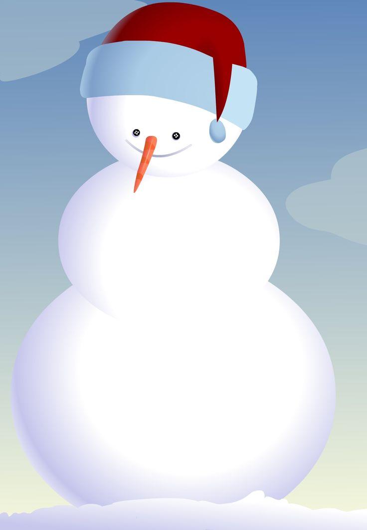 Free Printable Snowman Invitation Party Fun Pinterest