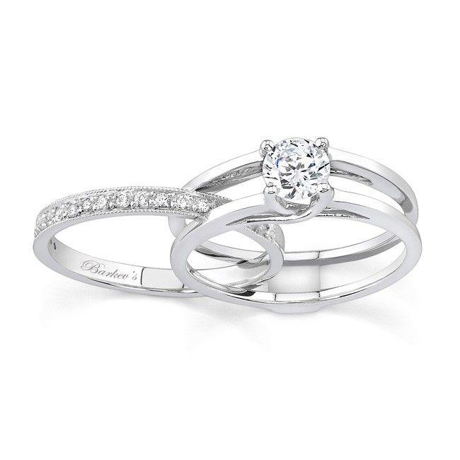 Barkevs Interlocking Engagementwedding Ring Set