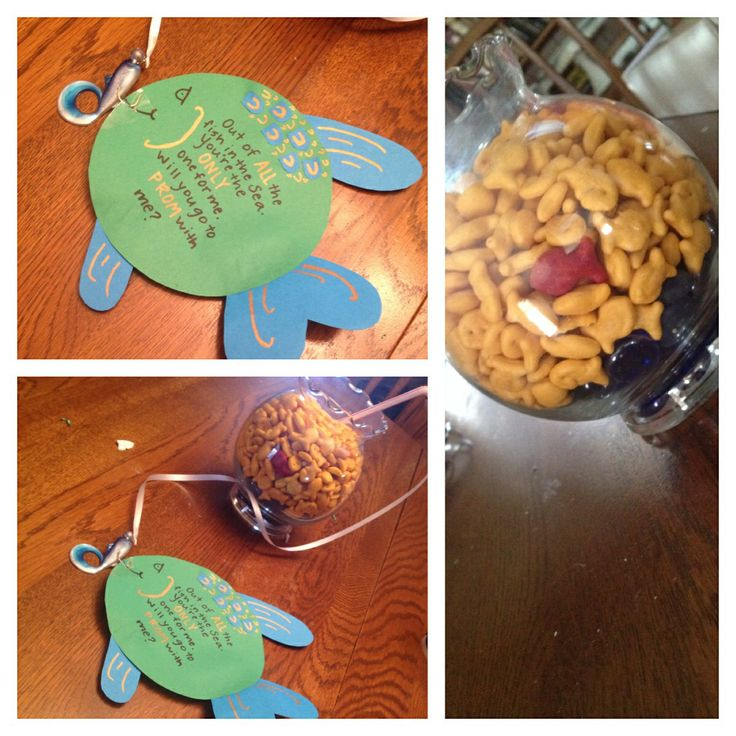 A Cute Way To Ask A Guy To Prom Out Of All The Fish In The Sea Youre The Only One For Me Will