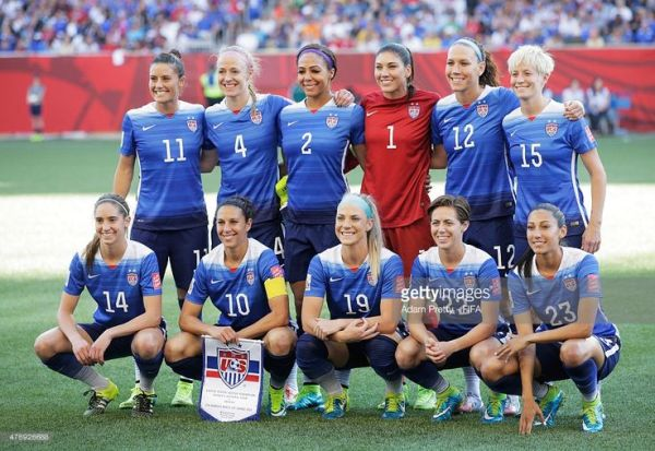 Team USA pose for a team picture before the Group D match ...