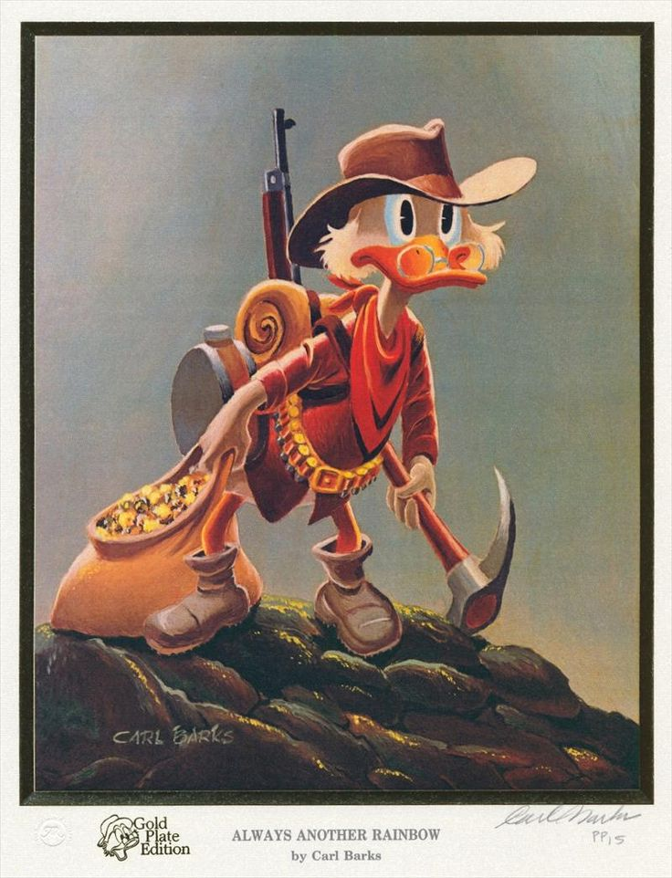 Uncle Scrooge Always Another Rainbow By Carl Barks