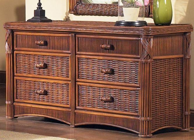 Rattan Double Dresser